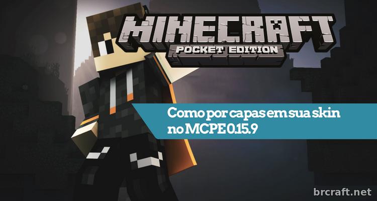 Como Por Capas Em Sua Skin No MCPE - Skins para minecraft pe com capa