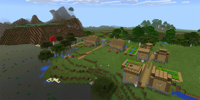 Witch Hut And Village at Spawn